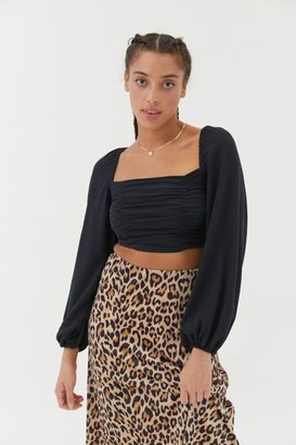 Urban Outfitters Bambi Ruched Blouse