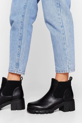 Nasty Gal Womens Let's Take a Walk Cleated Ankle Boots - Black