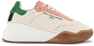 Stella McCartney Fabric Sneakers in White & Cream | FWRD