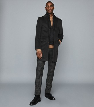 Reiss Coal - Overcoat With Removable Insert in Charcoal