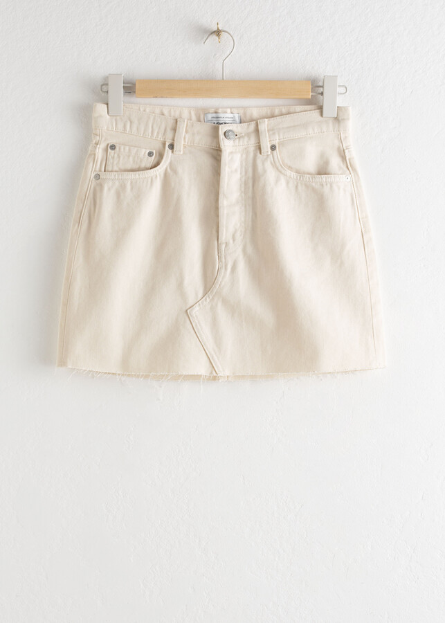 Thumbnail for your product : And other stories Raw Edge Denim Mini Skirt