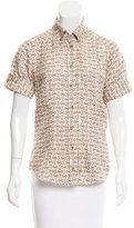 Gucci Silk Horsebit Print Top