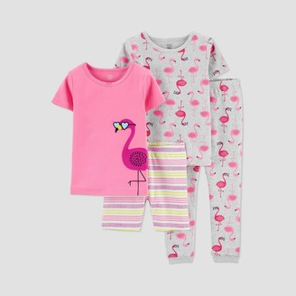 Carter's Baby Girls' 4pc Flamingo Pajama Set - Just One You® made by Pink
