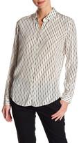 The Kooples Fantasy Stripe Silk Shirt