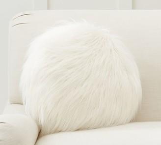Pottery Barn Mongolian Faux Fur Disk Pillow