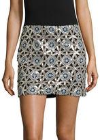 Design Lab Lord & Taylor Medallion Sequin Mini Skirt