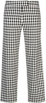 Derek Lam 10 Crosby Gingham Cropped Trousers