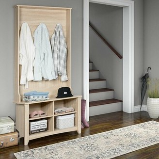Red Barrel Studio Brandan Hall Tree with Bench and Shoe Storage Color: Natural
