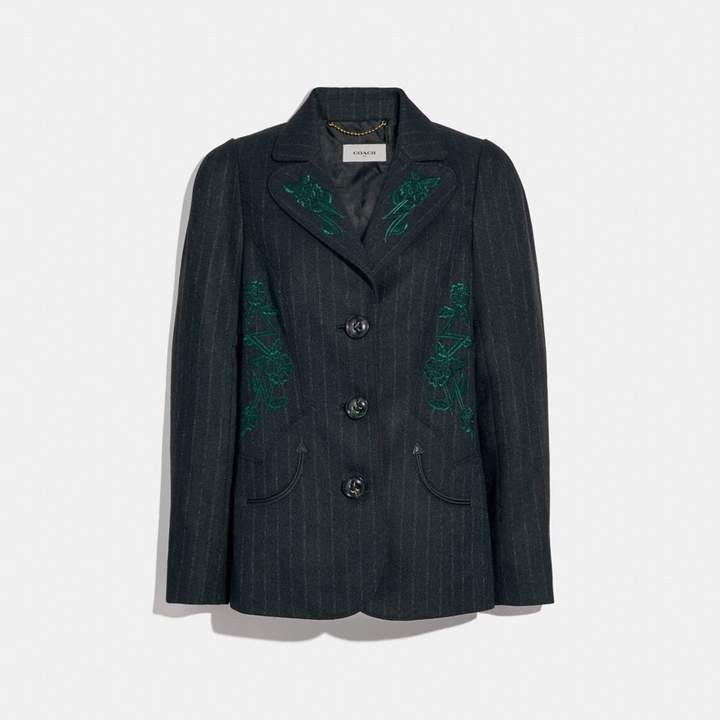 Coach Embellished Tailored Blazer