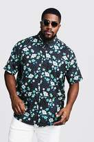 Big & Tall Ditsy Floral Short Sleeve Shirt