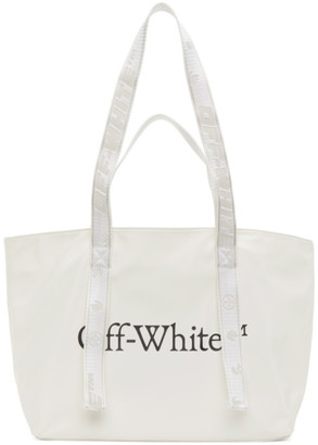 Off-White Nylon Small Commercial Tote