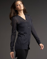 Vera Wang High-Low Cardigan