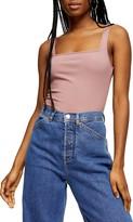 Topshop Square Neck Ribbed Bodysuit