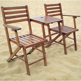A&B Home Folding Attached Chairs & Table
