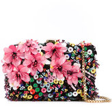 Elie Saab floral clutch - women - Leather/Polyester/PVC - One Size