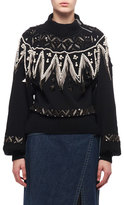 Sacai Bead-Embroidered Turtleneck Sweater