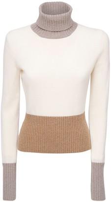 Loro Piana Color Block Cashmere Knit Sweater