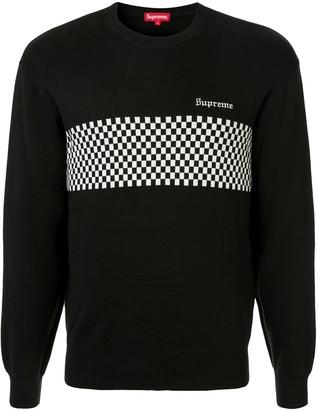 Supreme Checkered Panel Sweatshirt