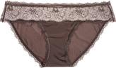 Calvin Klein Underwear Lace-paneled low-rise stretch-jersey briefs