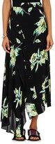 Proenza Schouler Women's Lily-Print Silk Asymmetric Skirt