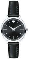 Movado Women's Ultra Slim Leather Strap Watch, 28Mm