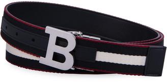 Bally Men's Reversible B-Buckle Belt