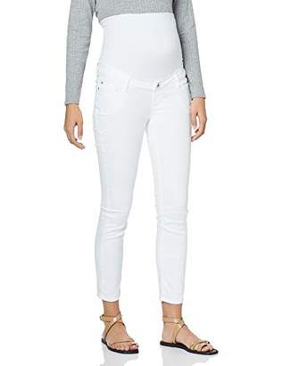 Noppies Women's Jeans OTB 7/8 Slim Mila Maternity, White de Blanc P002, W26