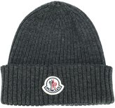 Moncler ribbed beanie hat - men - Virgin Wool - One Size
