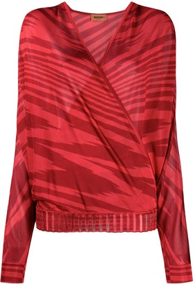 Missoni Wrap Zebra-Print Blouse