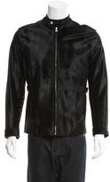 Valentino Ponyhair Leather-Trimmed Jacket