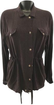 Bottega Veneta Burgundy Silk Jacket for Women