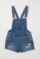 H&M Denim Overall Shorts - Blue