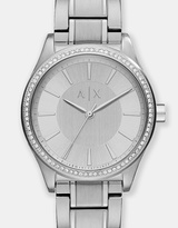 Armani Exchange Nicolette Silver-Tone Analogue Watch