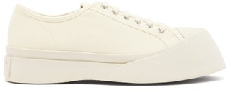 Marni Exaggerated-sole Low-top Canvas Trainers - Womens - Cream