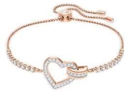 Swarovski Lovely Crystal Rose-Gold Plated Bracelet