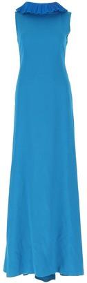 Alberta Ferretti Ruffled Maxi Dress