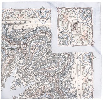 Acne Studios Paisley Print Silk Scarf
