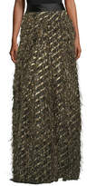 Milly Fringed Diagonal Metallic Ball Skirt