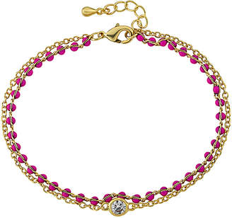 Little Miss Twin Stars Strings Of Beads 14K Enamel Bracelet