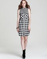10 Crosby Derek Lam Sleeveless Dress - Flannel with Tab Collar
