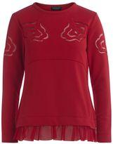 Twin-Set Twinset Red Long Sleeves Fleece
