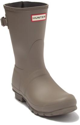 Hunter Short Back Adjustable Waterproof Rain Boot