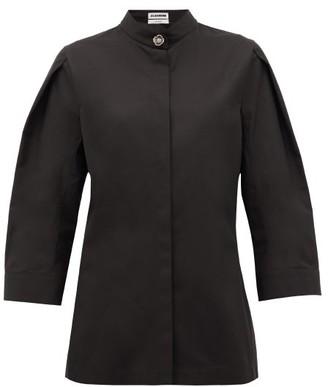 Jil Sander Saturday P.m. Band-collar Cotton Shirt - Black