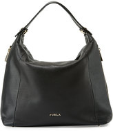 Furla Simplicity Leather Hobo Bag, Onyx/Petalo