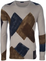 Paolo Pecora CONTRAST PANEL SWEATER