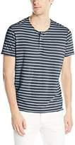 Calvin Klein Jeans Men's Short Sleeve Wash Stripe Henley Shirt