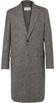 Maison Margiela Houndstooth Wool-blend Coat - Gray
