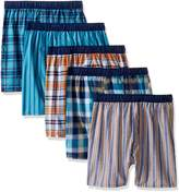 Fruit of the Loom Big Boys' 5 Pack Covered Waistband Boxer, Assorted, M