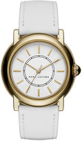 Marc Jacobs Women's Courtney White Leather Strap Watch 34mm MJ1449