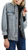 Topshop Women's Hooded Denim Jacket